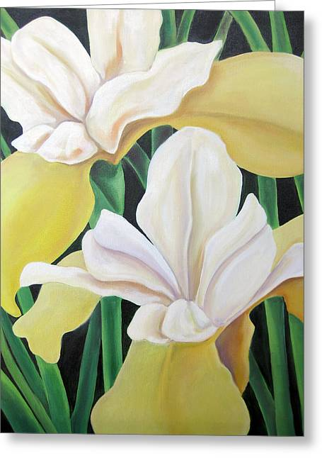 Floriography Greeting Cards - Wisdom and Messages Iris Greeting Card by Heidi Prange