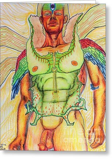 Aesthetics Pastels Greeting Cards - Wisdom Greeting Card by Isaac Lopez