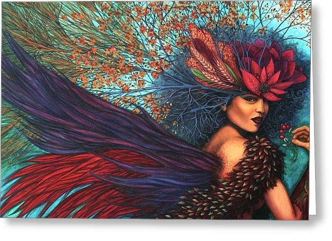 Carnival Spirit Greeting Cards - Wisdom of a Year Greeting Card by Helena Rose