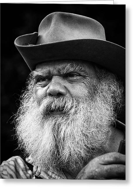 White Beard Greeting Cards - Wise Man Greeting Card by Ron  McGinnis