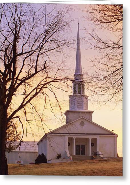 Country Church Greeting Cards - Wish You Were Here Greeting Card by Karen Wiles
