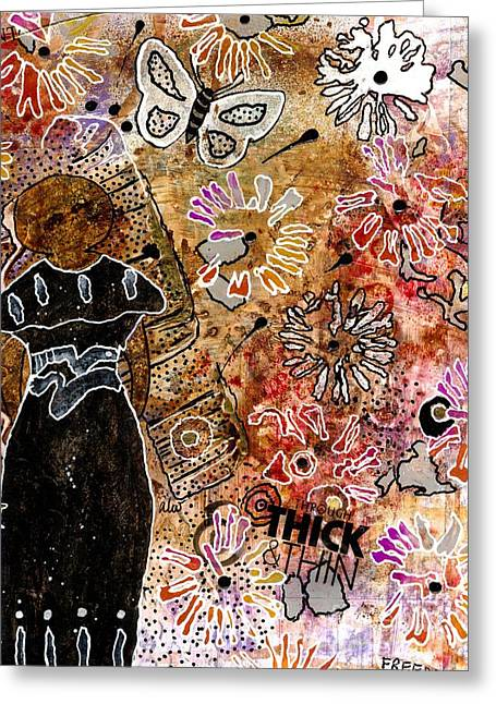 Survivor Art Greeting Cards - Wishing for Freedom Like Yours My Friend Greeting Card by Angela L Walker