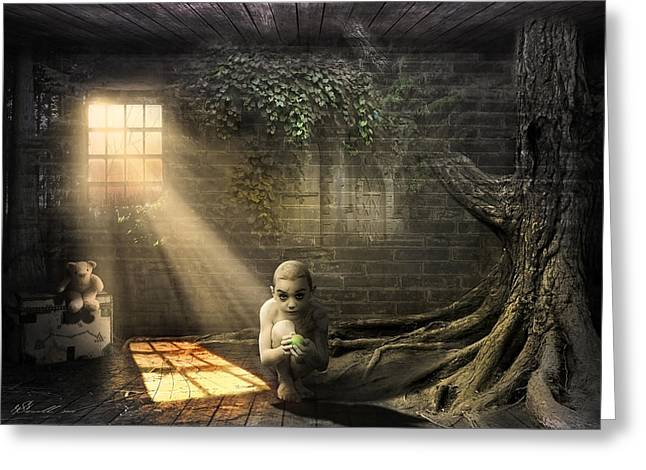 Creepy Digital Art Greeting Cards - Wishing Play Room Greeting Card by Svetlana Sewell