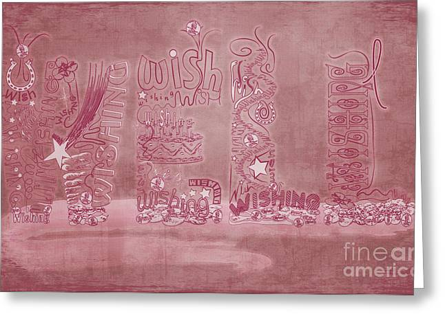 Wishing Well Breast Cancer Tribute Greeting Card by Laura Brightwood