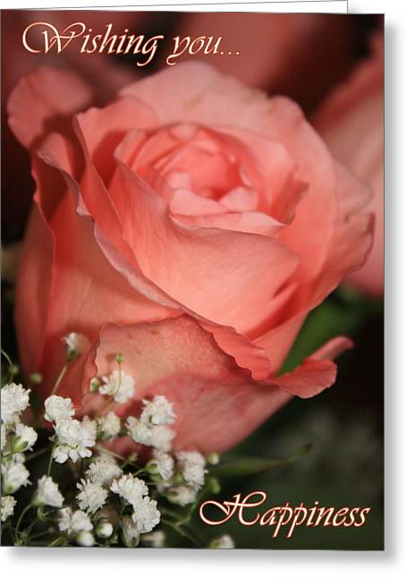 Wedding Card Greeting Cards - Wishing You Happiness Card Greeting Card by Carol Groenen