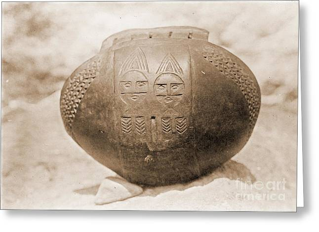 Incised Greeting Cards - Wishram Bowl Greeting Card by Padre Art