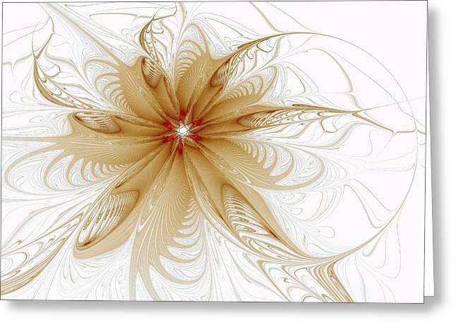 Best Sellers -  - Floral Digital Art Digital Art Greeting Cards - Wispy Greeting Card by Amanda Moore