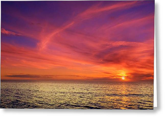 Nature Phots Greeting Cards - Wispy Horizon Pinks Greeting Card by Jeremy Smith