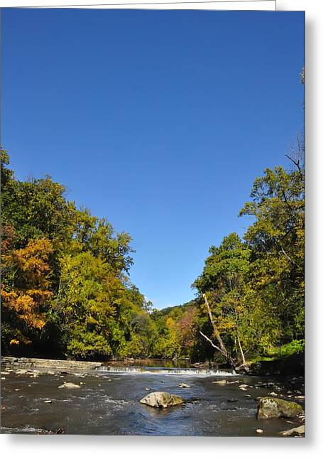 Wissahickon Creek Greeting Cards - Wissahickon Blue Skies Greeting Card by Bill Cannon