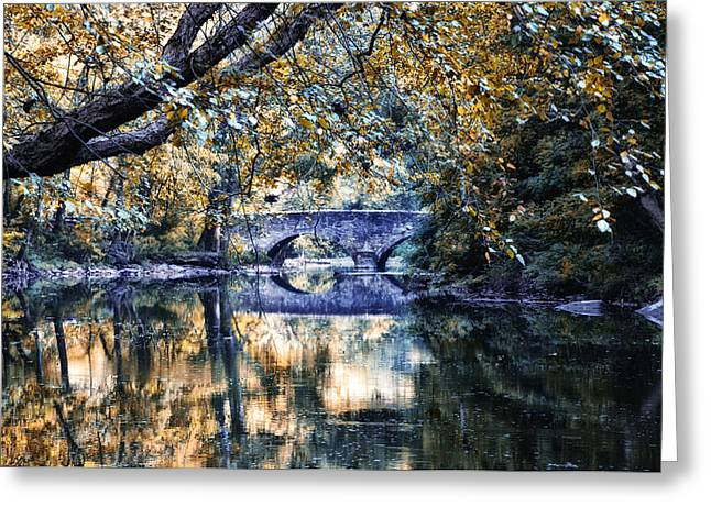 Wissahickon Creek Greeting Cards - Wissahickon Creek at Bells Mill Greeting Card by Bill Cannon