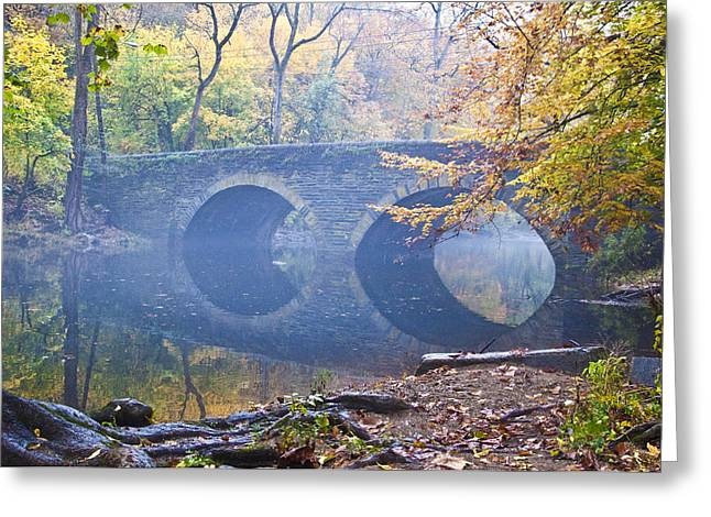 Wissahickon Creek Greeting Cards - Wissahickon Creek at Bells Mill Rd. Greeting Card by Bill Cannon