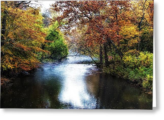 Wissahickon Greeting Cards - Wissahickon Creek Morning Greeting Card by Bill Cannon