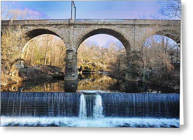 Water Fall Digital Art Greeting Cards - Wissahickon Viaduct Greeting Card by Bill Cannon