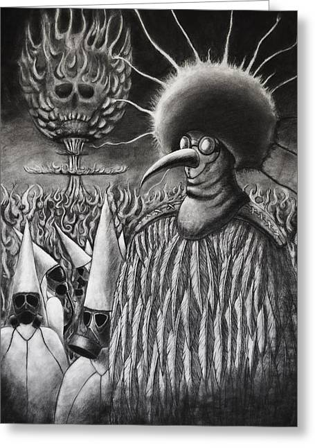 Kkk Greeting Cards - Witch Hunter Greeting Card by Casey Wade