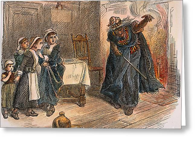 Witch Trial: Tituba, 1692 Greeting Card by Granger