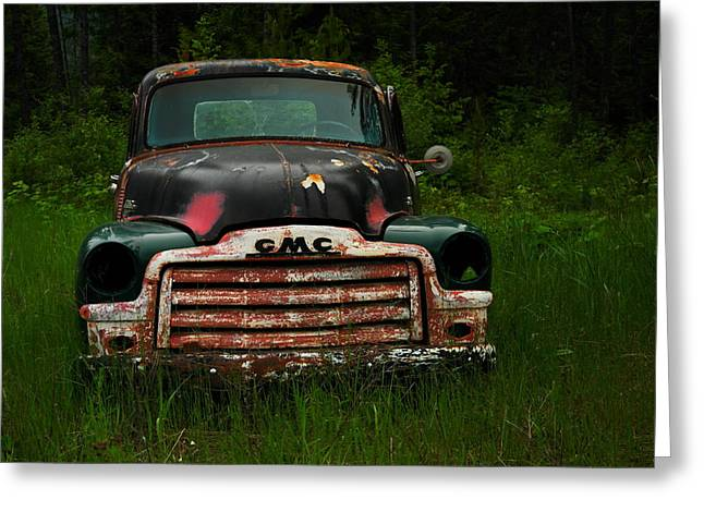 Old Trucks Greeting Cards - With Both Eyes Poked Out Greeting Card by Jeff  Swan