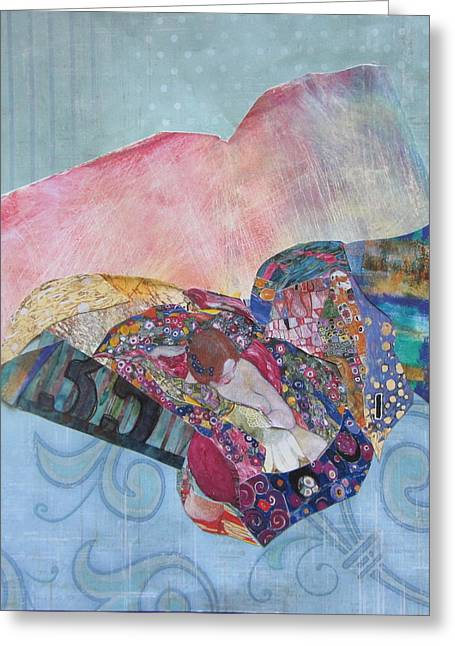 Empowerment Mixed Media Greeting Cards - With My Own Wings Greeting Card by Kanchan Mahon