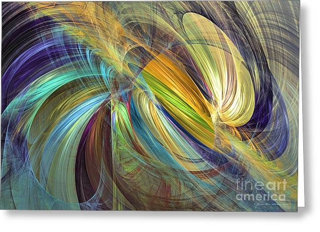 Interior Still Life Mixed Media Greeting Cards - With my son - abstract art Greeting Card by Abstract art prints by Sipo