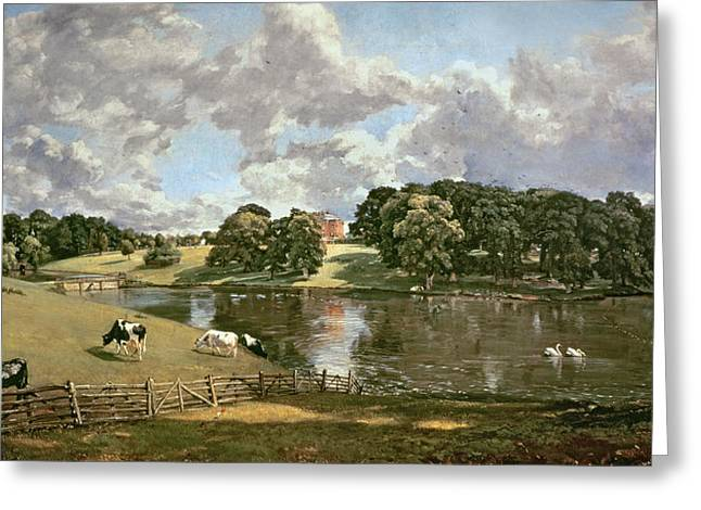 Constable Paintings Greeting Cards - Wivenhoe Park Greeting Card by John Constable
