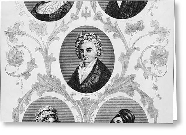WIVES OF FOUNDING FATHERS Greeting Card by Granger