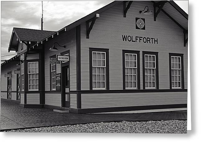 Rural Decay Prints Greeting Cards - Wolfforth Train Depot Greeting Card by Melany Sarafis