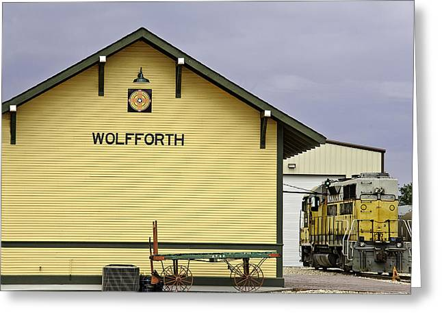 Rural Decay Prints Greeting Cards - Wolfforths New Old Train Depot Greeting Card by Melany Sarafis