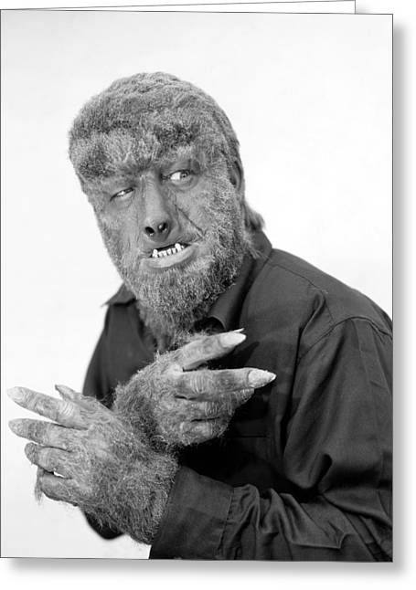 Horror House Greeting Cards - Wolfman, 1945 Greeting Card by Granger