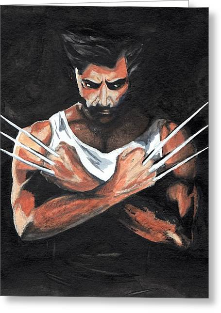 X-men Greeting Cards - Wolverine Greeting Card by Pet Serrano