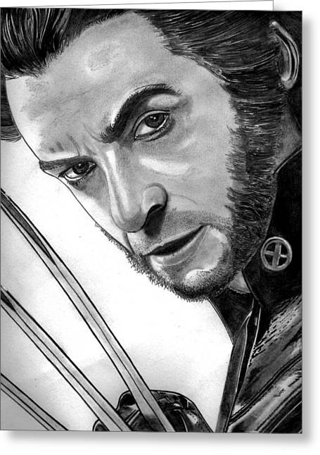 Leather Glove Drawings Greeting Cards - Wolverine Greeting Card by Ralph Harlow