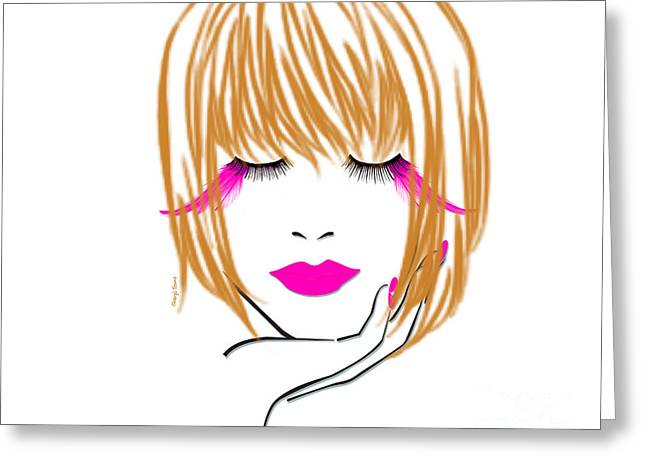 Woman 10 Greeting Card by Cheryl Young