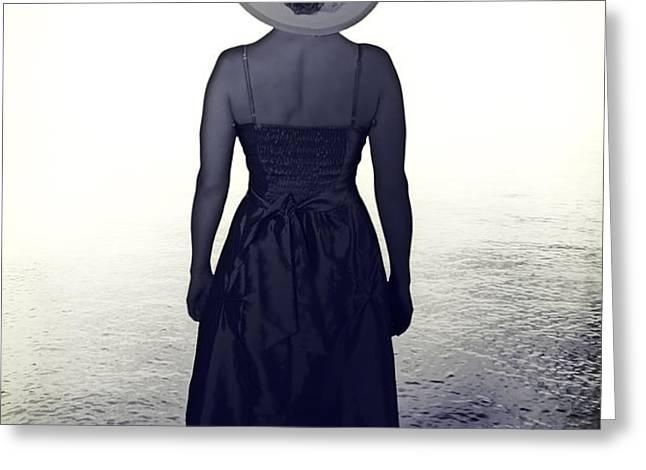 woman at the shore Greeting Card by Joana Kruse