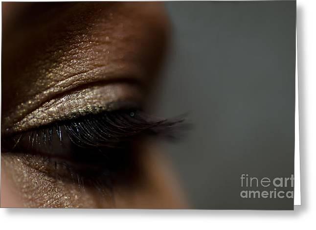 Eyelash Greeting Cards - Woman eye Greeting Card by Mats Silvan