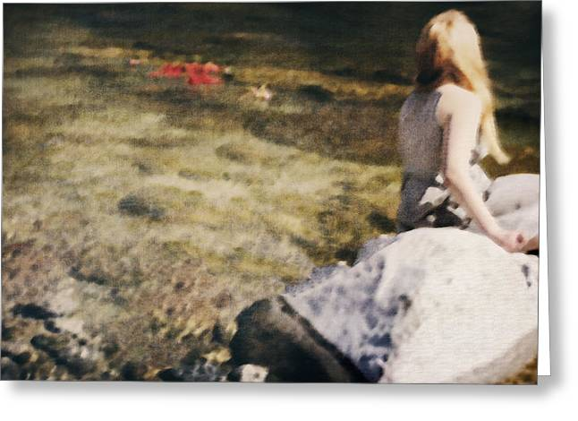 woman in a river Greeting Card by Joana Kruse