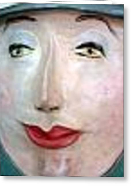 Women Only Greeting Cards - Woman in Hat Greeting Card by Sharon Milligan