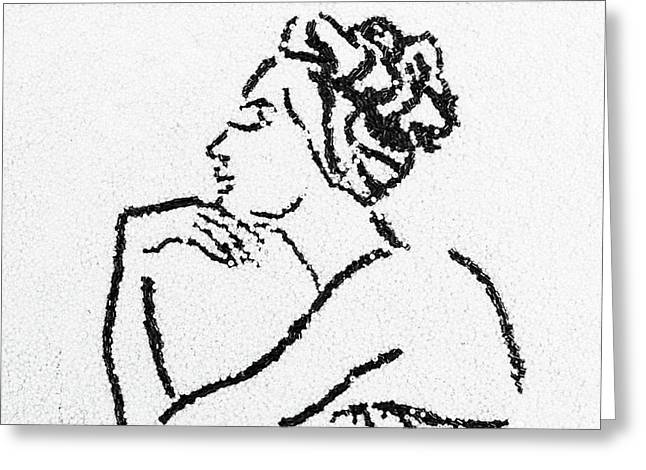 People Glass Greeting Cards - Woman Greeting Card by Natalya A
