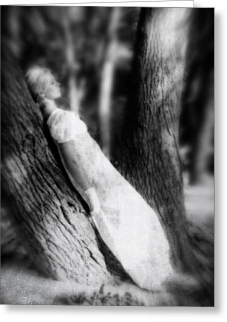 Leaned Greeting Cards - Woman On A Trunk Greeting Card by Joana Kruse