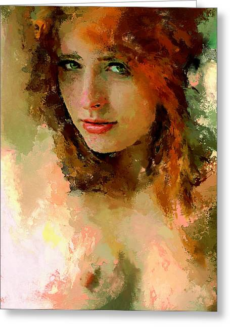 Attractiveness Greeting Cards - Woman Portrait 5 Greeting Card by Yury Malkov