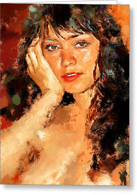 Attractiveness Greeting Cards - Woman Portrait 6 Greeting Card by Yury Malkov