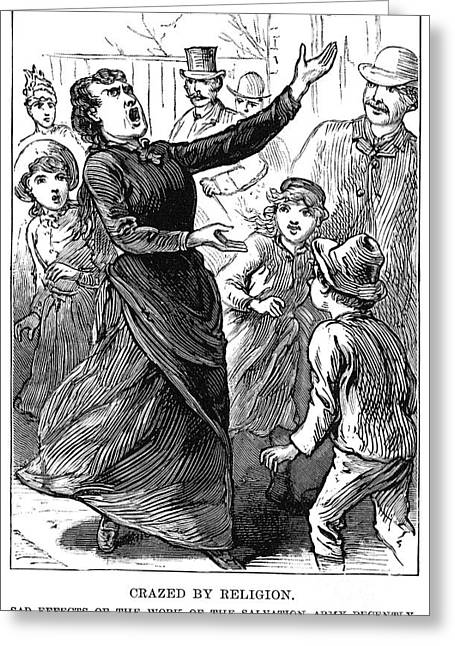 """salvation Army"" Greeting Cards - Woman Preaching, 1888 Greeting Card by Granger"
