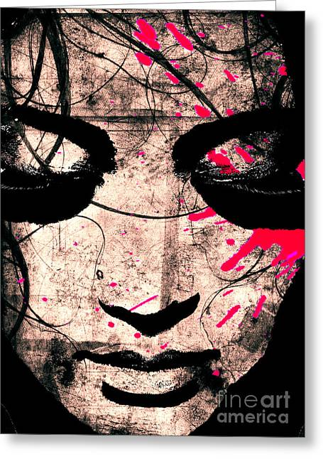Therapy Greeting Cards - Woman Greeting Card by Ramneek Narang