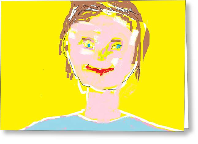 Felix Zapata Greeting Cards - Woman Smiling Greeting Card by Felix Zapata