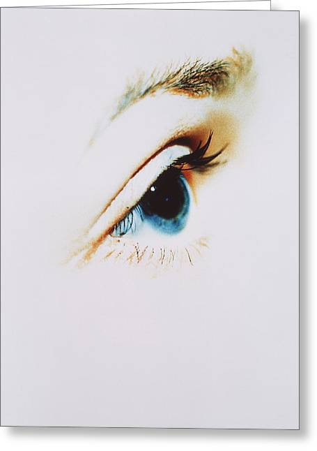 Eyebrow Greeting Cards - Womans Eye Greeting Card by Cristina Pedrazzini