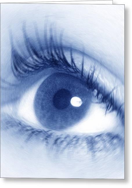Eyelash Greeting Cards - Womans Eye Greeting Card by Crown Copyrighthealth & Safety Laboratory