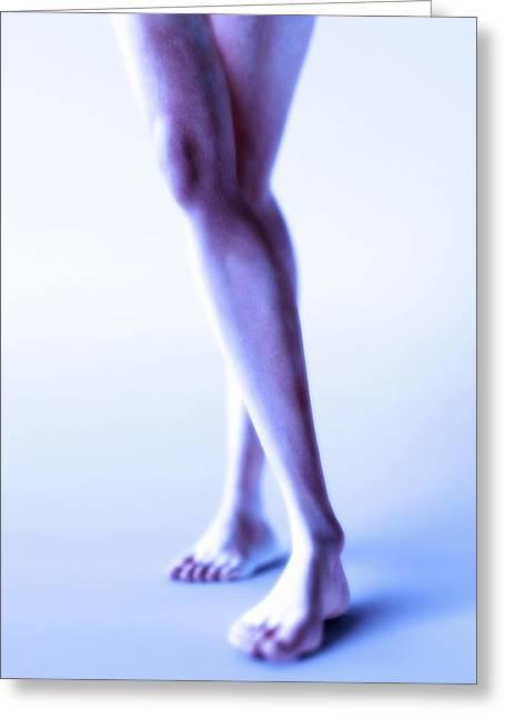 Legs Crossed Greeting Cards - Womans Legs, Computer Artwork Greeting Card by Christian Darkin
