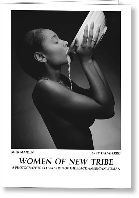 Best Sellers -  - Spiritual Portrait Of Woman Greeting Cards - Women Of A New Tribe - Milk Maiden Greeting Card by Jerry Taliaferro