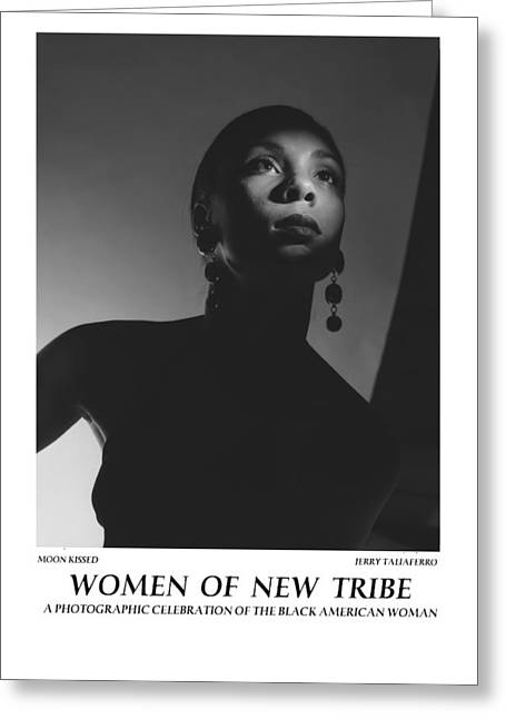 Spiritual Portrait Of Woman Greeting Cards - Women Of A New Tribe - Moon Kissed Greeting Card by Jerry Taliaferro