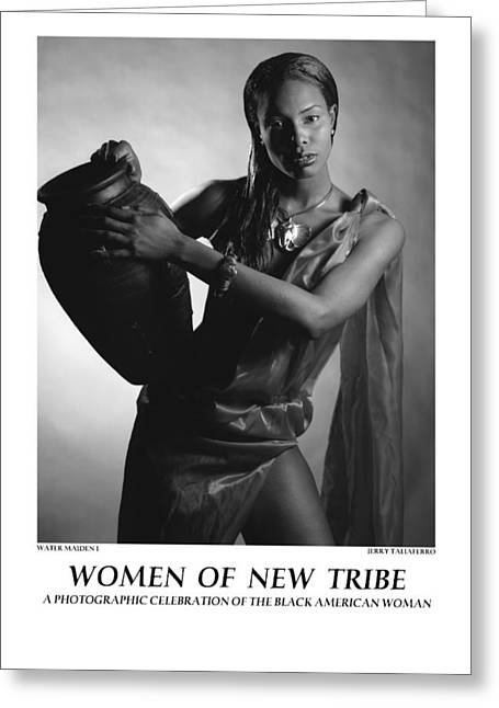 Spiritual Portrait Of Woman Greeting Cards - Women Of A New Tribe - Water Maiden I Greeting Card by Jerry Taliaferro