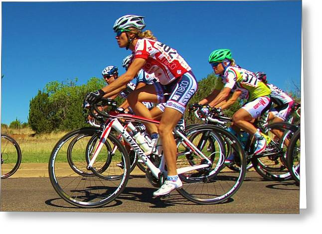 Tour Of The Gila Greeting Cards - Women Start on Day Two Greeting Card by Feva  Fotos