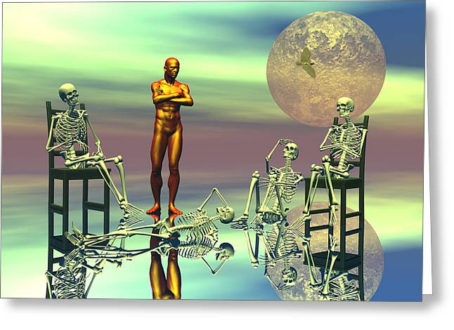 Scifi Digital Art Greeting Cards - Women waiting for the perfect man Greeting Card by Claude McCoy