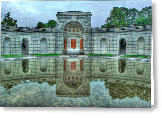 Hdr Landscape Greeting Cards - Women War Memorial Greeting Card by Don Lovett